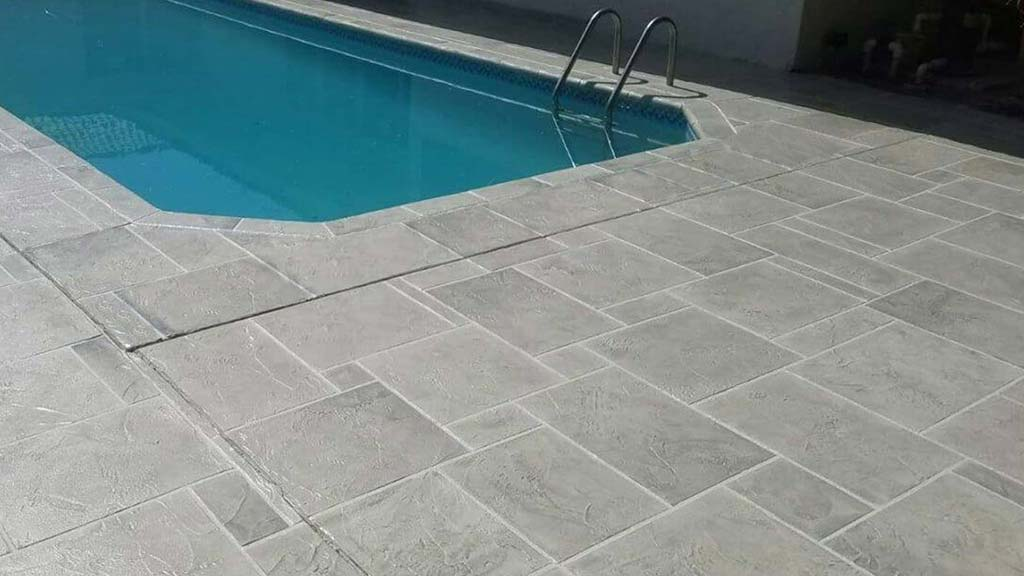 pool deck resurfacing after replacing spray deck